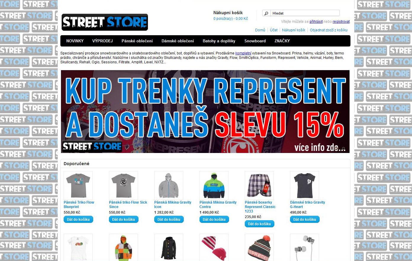 Street-store.cz - oblečení, boty a doplňky pro Skateboard a Snowboard